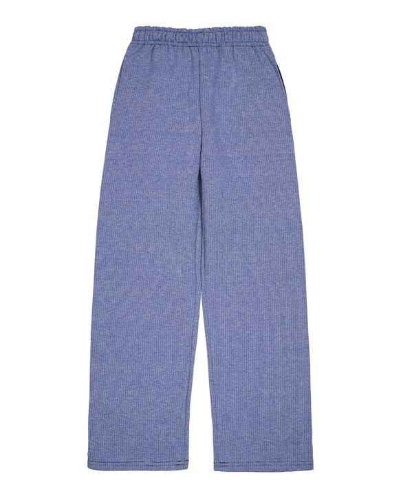Boys' Fleece Open Bottom Sweatpants, 1 Pack Blue Stripe