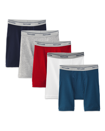 Fruit of the Loom Boys' Assorted Boxer Brief, 5 pack Assorted