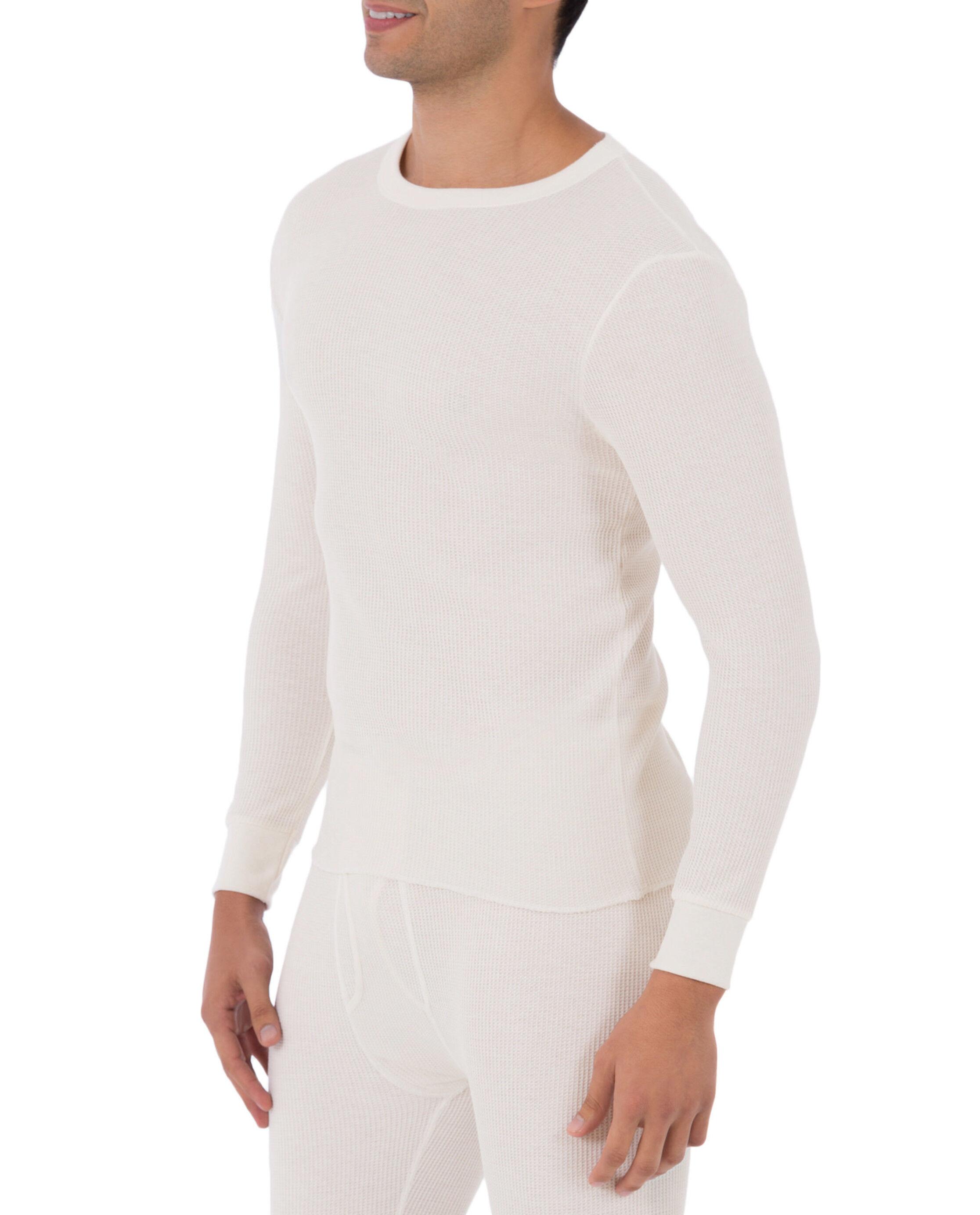 Gray Grey XL Fruit of the Loom Men/'s Thermal Crew Shirt Top 46-48