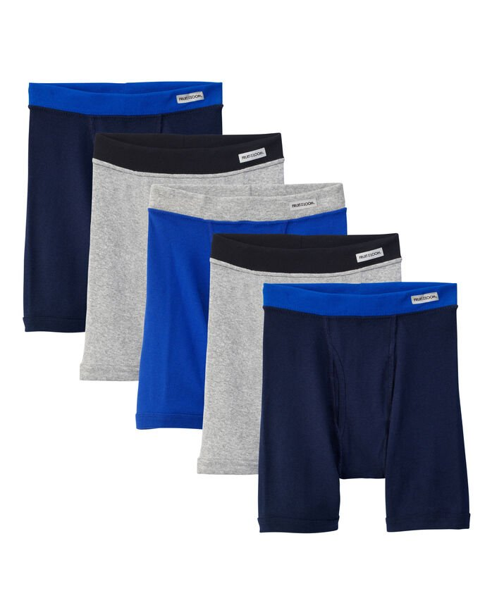 Boys' Covered Waistband Boxer Brief, 5 pack