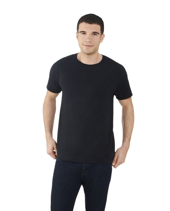 Big Men's Dual Defense® Crew Neck T-Shirt, 1 Pack Black