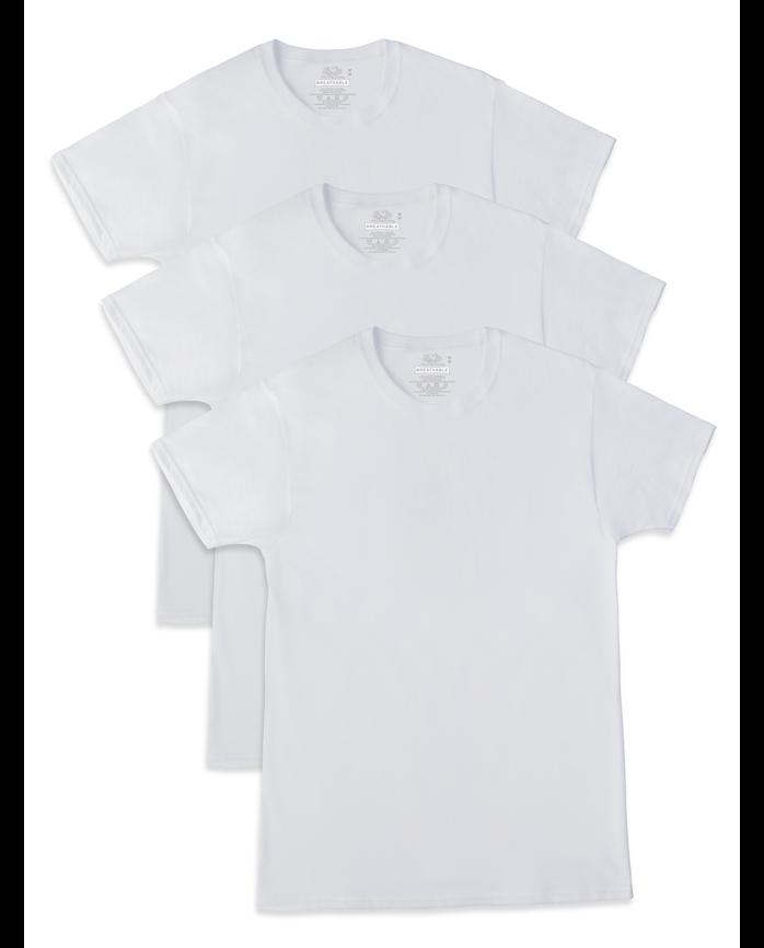 Men's Breathable Crew Neck T-Shirts, 3 Pack, Size 2XL