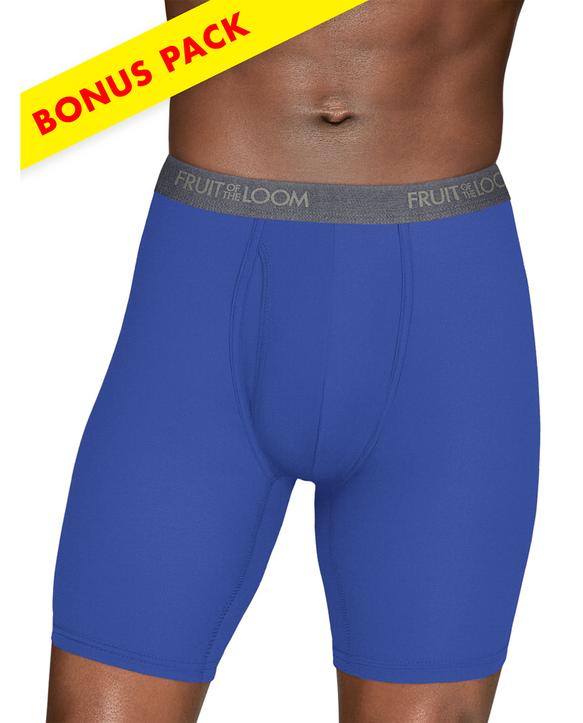 Men's EverLight Long Leg Assorted Boxer Briefs,4 Pack ASSORTED
