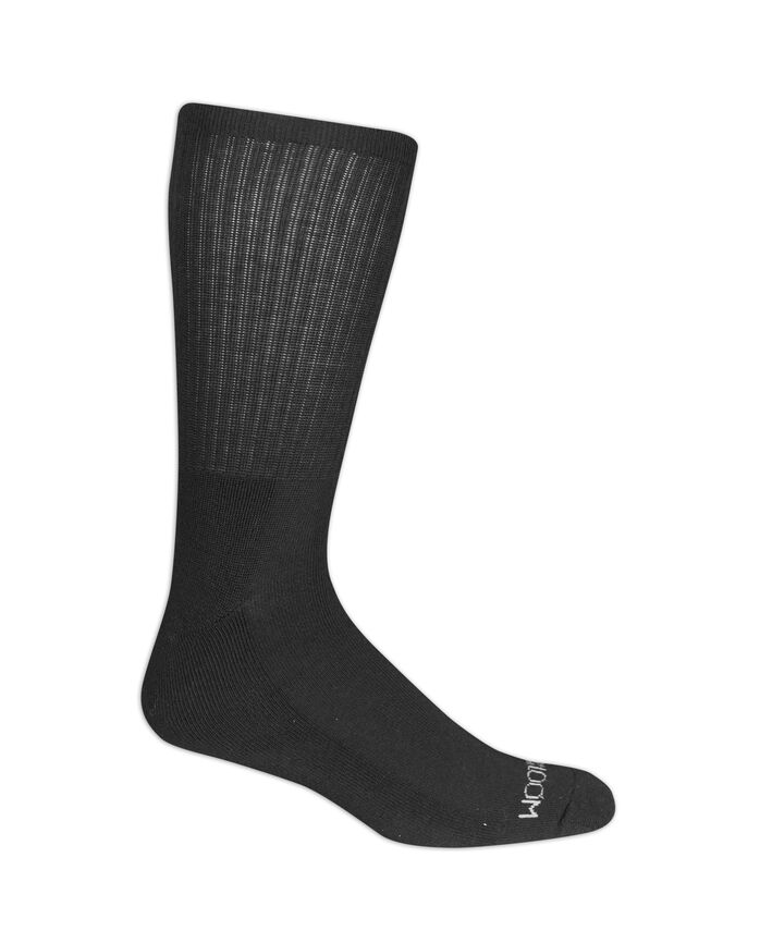 Men's Cushioned Crew Socks, 6 Pack