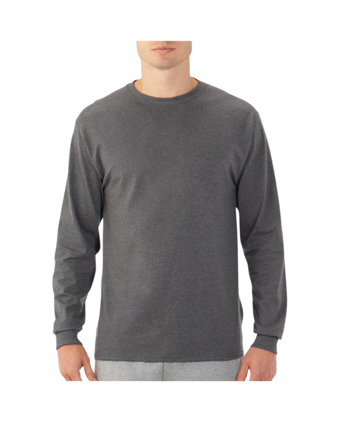Men's EverSoft Long Sleeve T-Shirt, 1 Pack Charcoal Heather