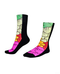 Fruit of the Loom Limited Edition Fruit Fashion 360 Printed Crew Socks BLACK, RED, PURPLE, GREEN, YELLOW