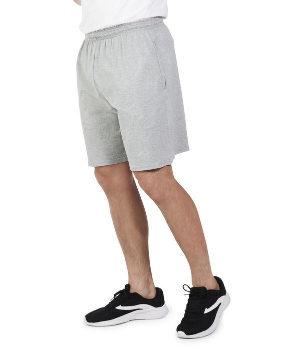 Men's Dual Defense UPF Jersey Shorts, 1 Pack Steel Grey Heather
