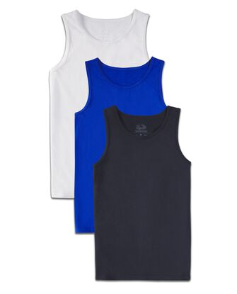 Boys' Super Soft Solid Multi-Color Tank Tops, 3 Pack