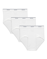 Men's Big and Tall White Brief, 3 Pack White