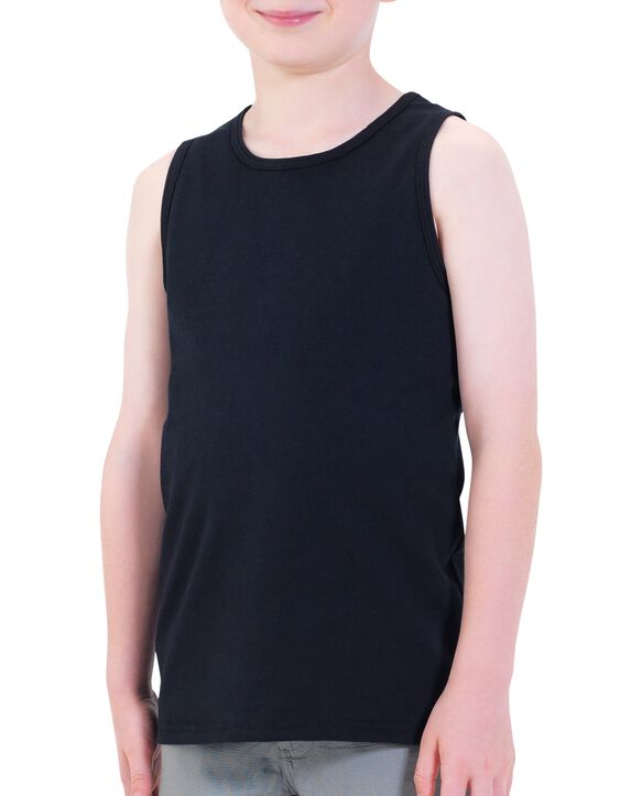 Boys' Tank Top, 2 Pack Black