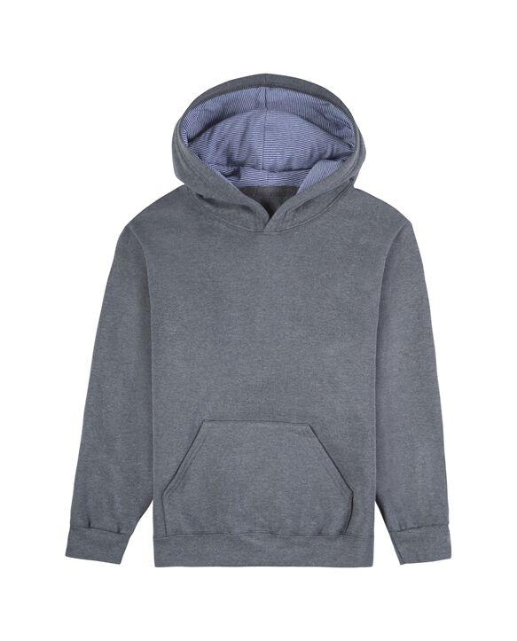 Boys' Fleece Hoodie Sweatshirt, 1 Pack Charcoal Heather