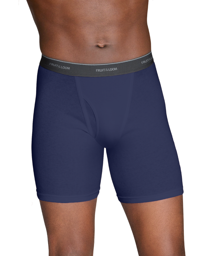 Men's Dual Defense Fashion Print and Solid Boxer Briefs, 4 Pack, 2XL
