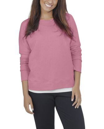 Women's Essentials Long Sleeve French Terry Top, 1 Pack