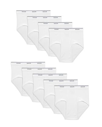 Men's Cotton White Briefs, Super Value 9 Pack