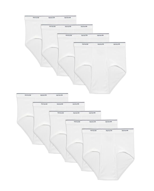Men's Cotton White Briefs, Super Value 9 Pack White