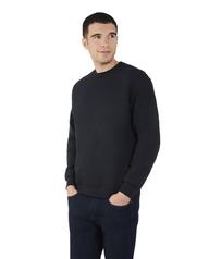 Big Men's EverSoft Fleece Crew Sweatshirt, 1 Pack Black