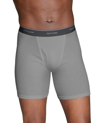 Men's Black and Gray Boxer Briefs, 5 Pack, Size Small