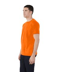 Men's Dual Defense UPF Short Sleeve Crew T-Shirt Safety Orange