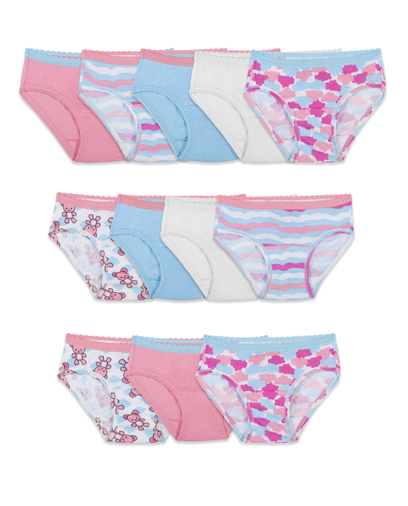 Toddler Girls' Hipster Panty, 12 Pack Assorted