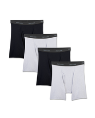 Men's Beyondsoft Black and Gray Boxer Briefs, 4 Pack, Size 2XL