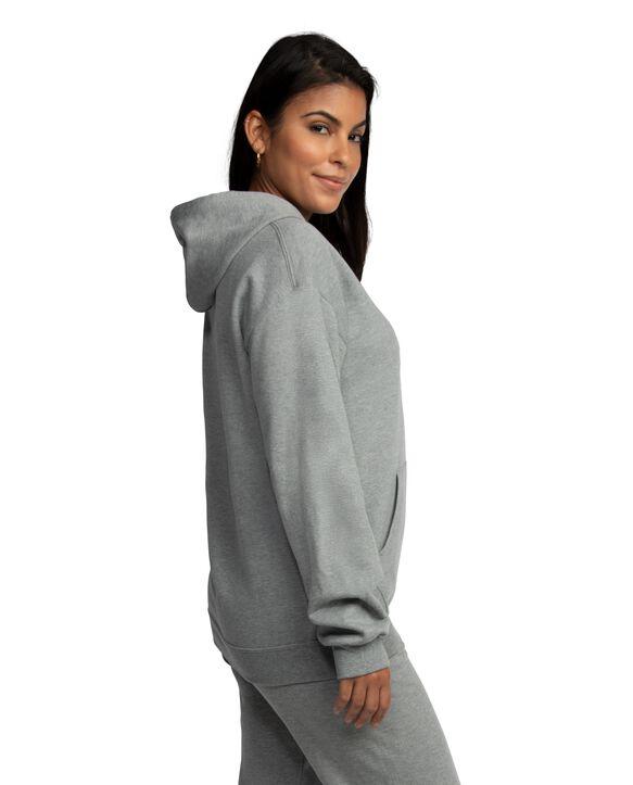 EverSoft Fleece Pullover Hoodie Sweatshirt, Extended Sizes, 1 Pack Grey Heather