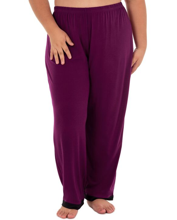 Women's Fit For Me By Fruit of The Loom Plus Size V-neck Pajama Set BOYSENBERRY