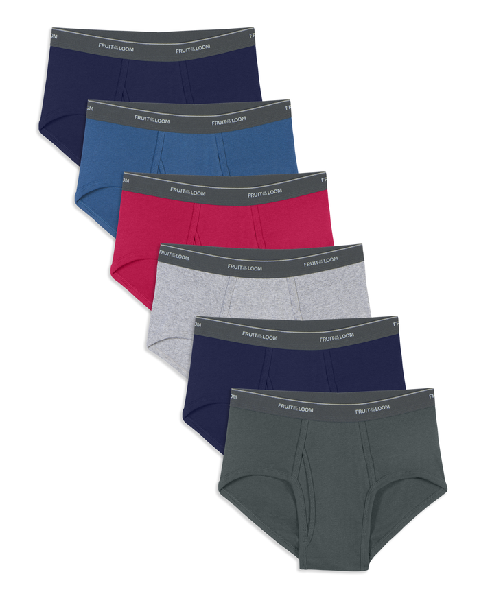 Men's 6 Pack Assorted Color Fashion Brief