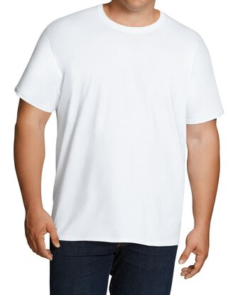Big Men's White Crew T-Shirts, 6 Pack