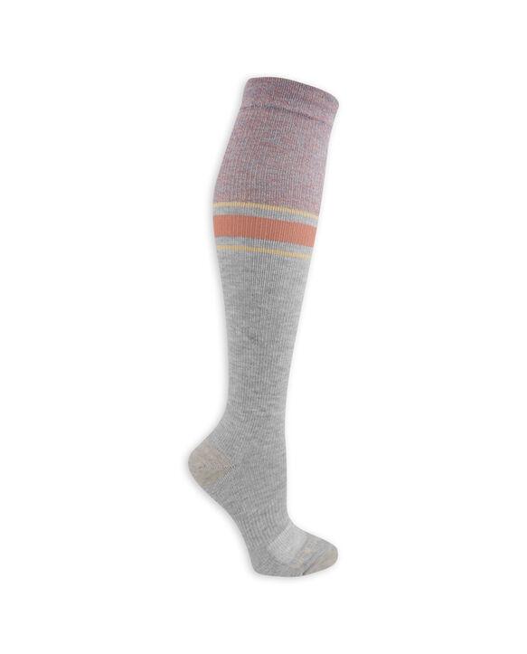 Women's On Her Feet Lightweight Compression Knee High Socks, 2 Pack, Size 4-10 GREY, BLACK