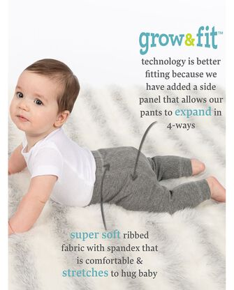 Baby Grow & Fit Pull-On Pants, 2 Pack