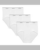 Big Men's White Briefs, 3 Pack White