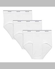 Men's Cotton White Briefs, 3 Pack White