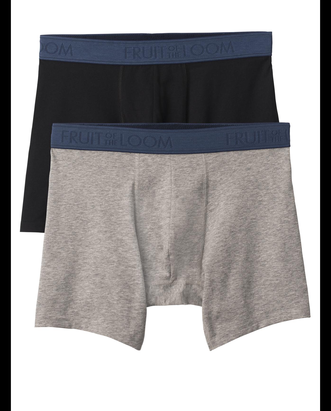0c6f02d373d8 Men's 2 Pack Low Rise Black/Heather Gray Boxer Brief Black Grey