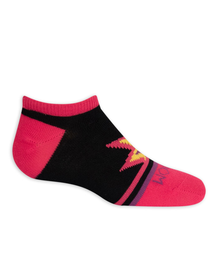 Girls' Lightweight No Show Socks, 10 Pack