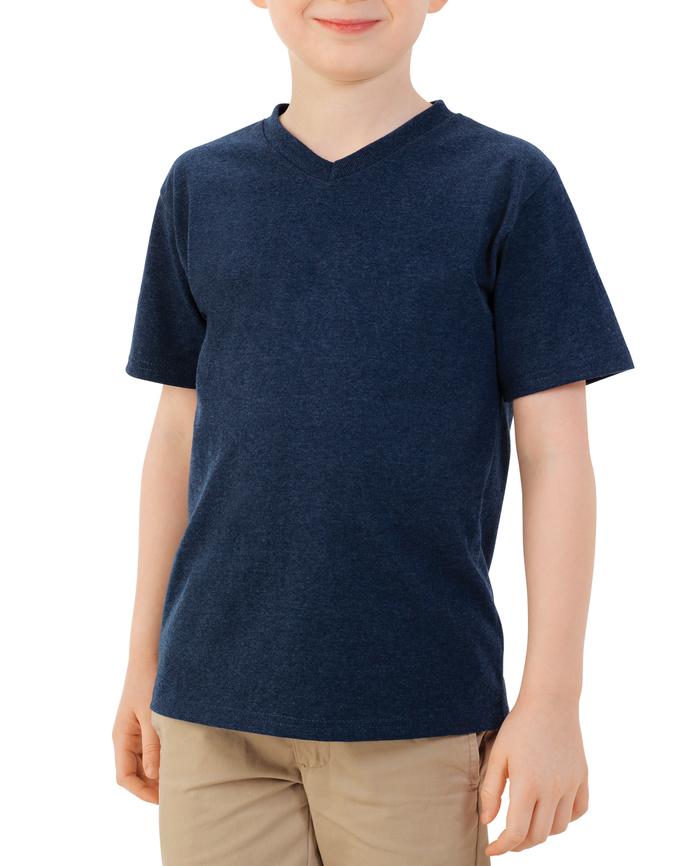 Boys' Short Sleeve V-Neck T-Shirt, 2 Pack