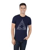 Men's Limited Edition Printed Logo T-Shirt, 1 Pack Navy