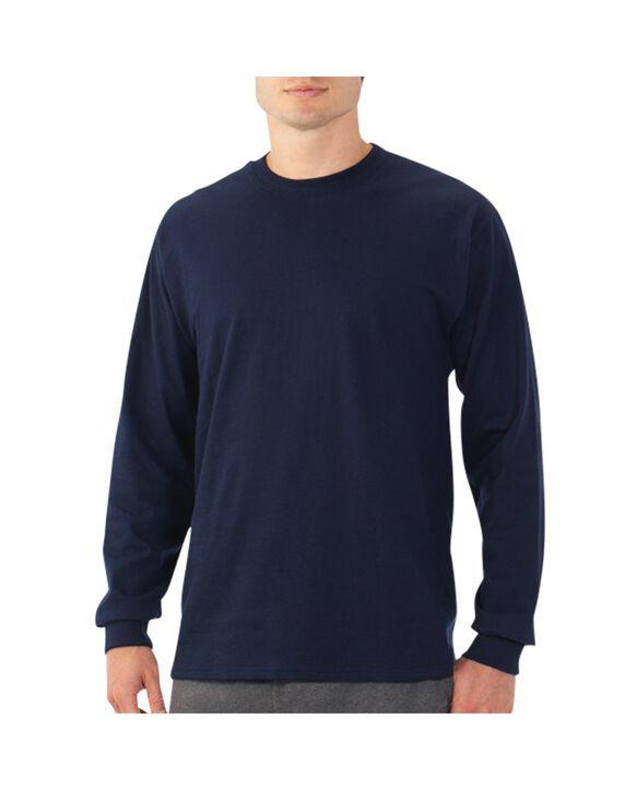 Men's EverSoft Long Sleeve T-Shirt, 1 Pack J Navy