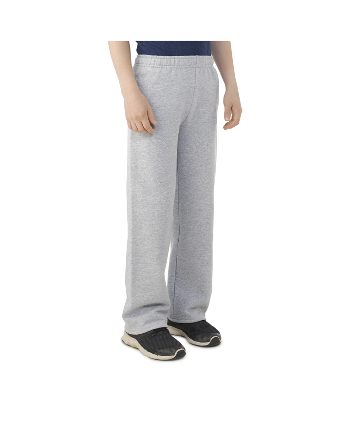 Boys Fleece Open Bottom Sweatpants
