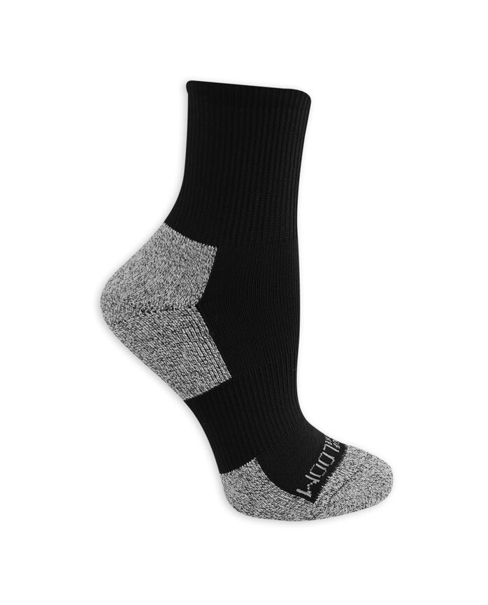 Women's On Her Feet Zoned Cushion Boot Crew Socks, 3 Pack BLACK