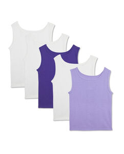 Toddler Girls' 5 Pack Assorted Cotton Tank