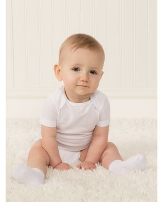 Baby Short Sleeve Breathable Bodysuits, 4 Pack