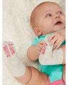 Baby Grow & Fit Socks, 6 Pack Pink Multi