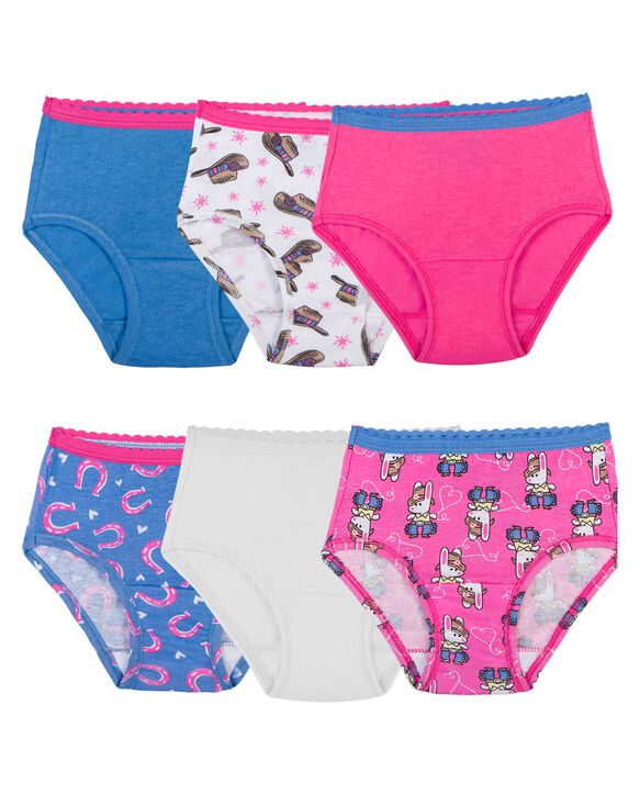 Toddler Girls' Assorted Brief Panty, 6 Pack Assorted