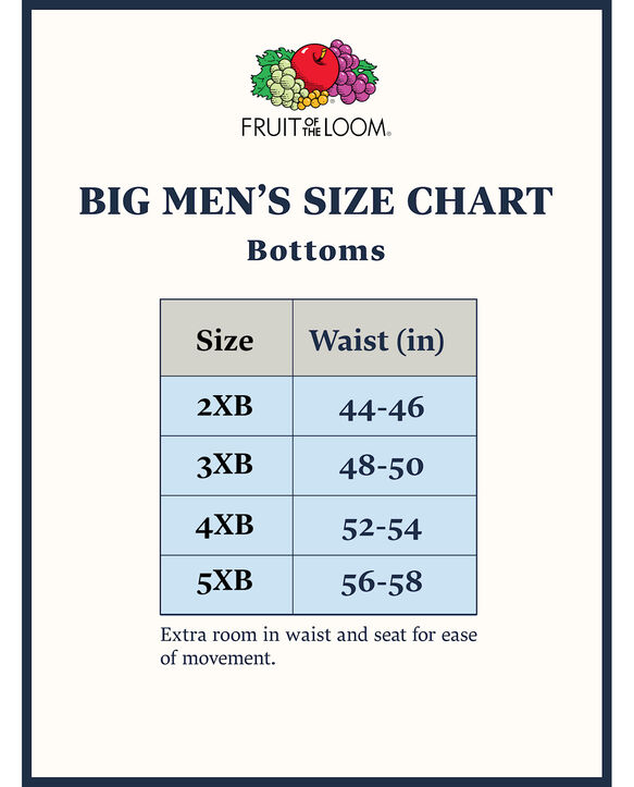 Big Men's Classic White Briefs, 6 Pack White