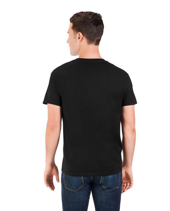 Big Men's Dual Defense UPF Short Sleeve Pocket T-Shirt, 1 Pack Black Heather