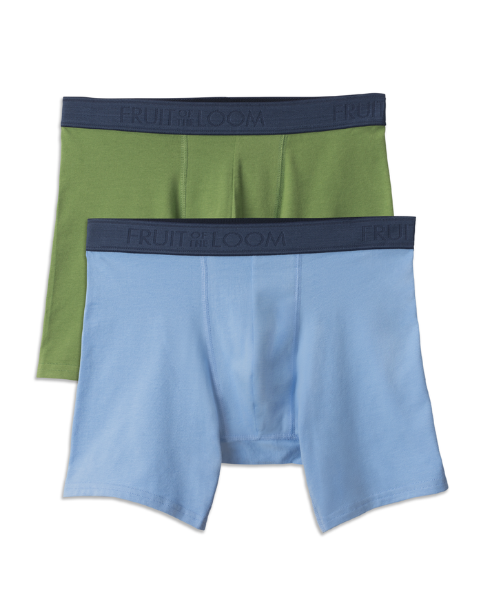 Men's Low Rise Boxer Briefs, 2 Pack Assorted