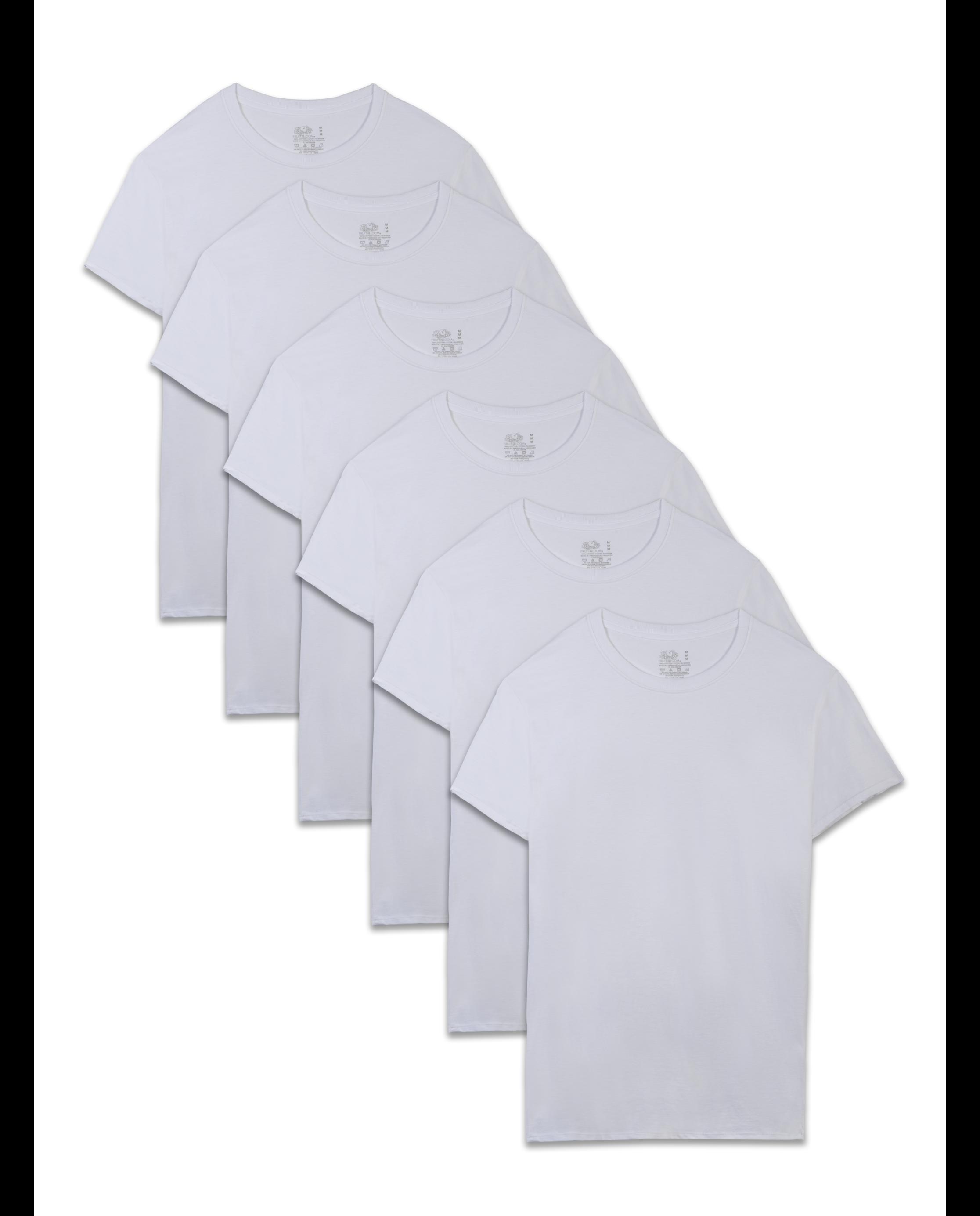 Essentials Mens 6-Pack Crewneck Undershirts