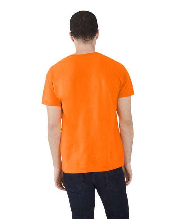 Men's Dual Defense UPF Short Sleeve Crew T-Shirt, 1 Pack Safety Orange
