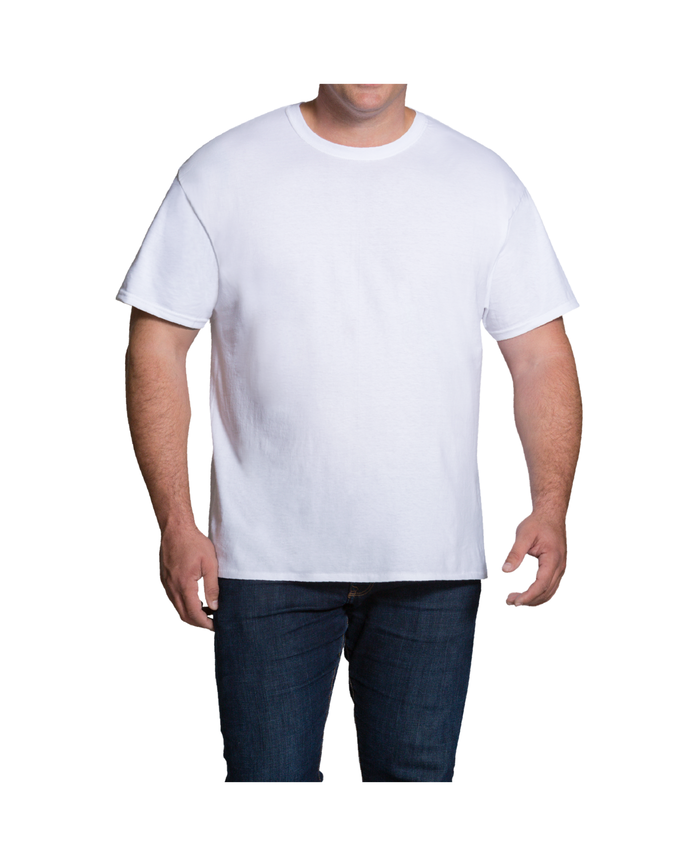 763f5425f Men's Dual Defense® White Crew Neck T-Shirts, 3 Pack, Extended Sizes