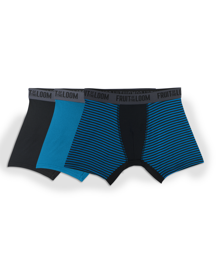 Boys' 3pk Breathable Performance Boxer Briefs - Assorted Colors